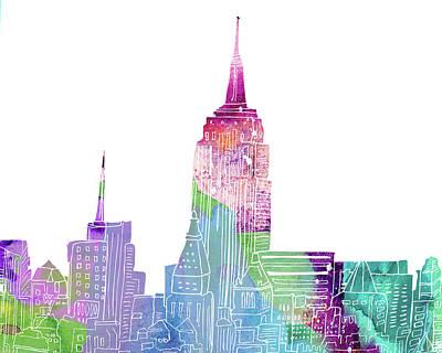 New York City Skyline Mixed Media - Ny Skyline I by Marilu Windvand