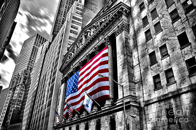 Ny Stock Exchange Art Print by Alessandro Giorgi Art Photography