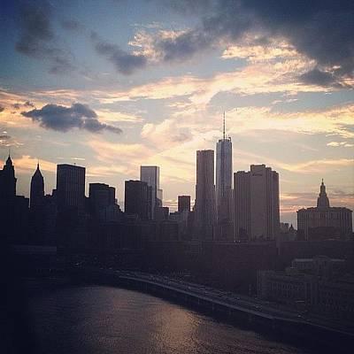 New York City Skyline Wall Art - Photograph - New York At Dusk  by Emma O Brien