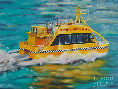 Painting - Ny Water Taxi by Milagros Palmieri