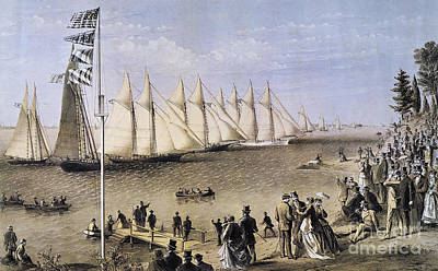 Photograph - Ny Yacht Club Regatta, 1869 by Granger