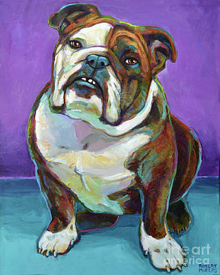Painting - Nya The Bulldog by Robert Phelps