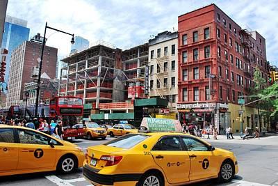 Photograph - Nyc 47th Street Cab View by Matt Harang