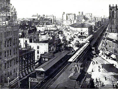 Photograph - Nyc 6th Avenue El - Year 1888 by Merton Allen