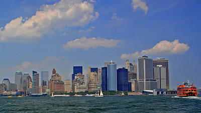 Photograph - Nyc And Straton Island Ferry by Jack Moskovita