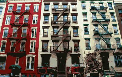 Nyc Apartment Color 16 Art Print by Scott Kelley
