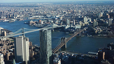 Print featuring the photograph Nyc Bridges by Matthew Bamberg