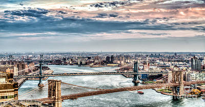 Photograph - Nyc Bridges by Rafael Quirindongo