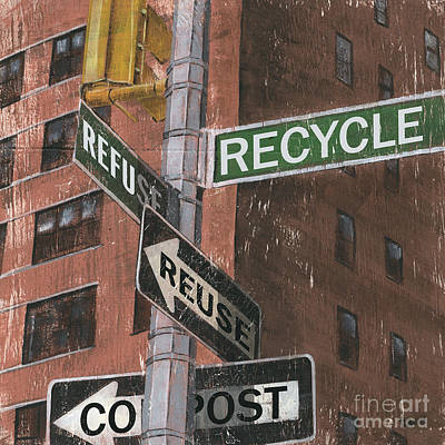 Brick Buildings Painting - Nyc Broadway 1 by Debbie DeWitt