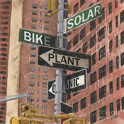 Street Lights Painting - Nyc Broadway 2 by Debbie DeWitt