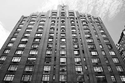 Photograph - Nyc Building - Window Reflections - Black And White by Matt Harang