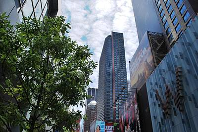 Photograph - Nyc Buildings With Tree - Looking Up by Matt Harang