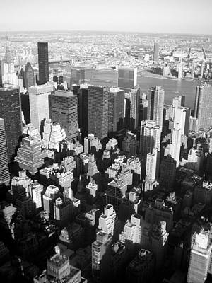 Skylines Royalty-Free and Rights-Managed Images - NYC bw by Anita Burgermeister
