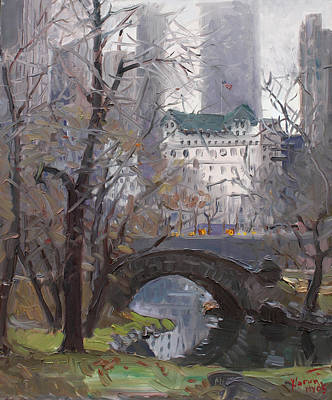 Bridges Painting - Nyc Central Park by Ylli Haruni