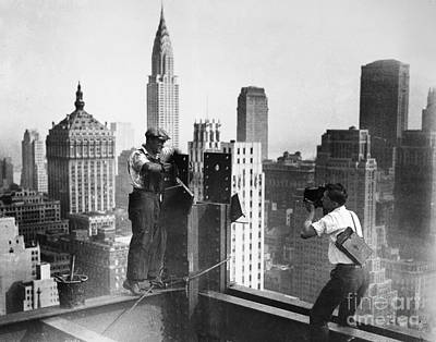 Photograph - Nyc Construction, C1932 by Granger