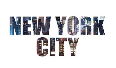 Photograph - Nyc Font V2 by Rospotte Photography