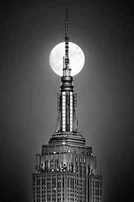 Photograph - Nyc Full Moon by Mihai Andritoiu