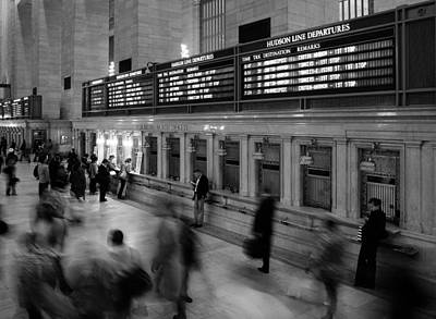 Nyc Grand Central Station Art Print by Nina Papiorek