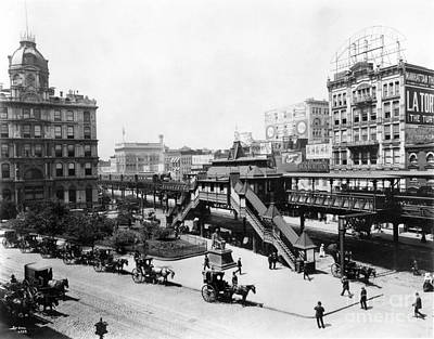 Photograph - Nyc: Greeley Square, 1898 by Granger