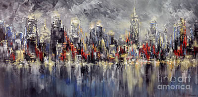 Nyc Lights Art Print