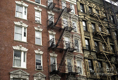 Nyc Fire Escapes Photograph - Nyc Living Dimensions by John Rizzuto