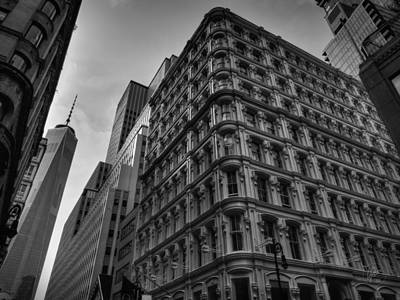 Photograph - Nyc - Lower Manhattan 002 Bw by Lance Vaughn
