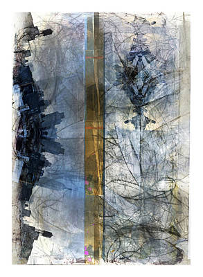 Mixed Media - Nyc Metrograph by Revere La Noue