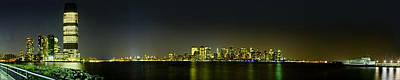 Photograph - Nyc Night Skyline Panorama 1 by Val Black Russian Tourchin
