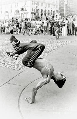 Lovely Lavender - NYC -On The Street-Acrobats by Regina Geoghan
