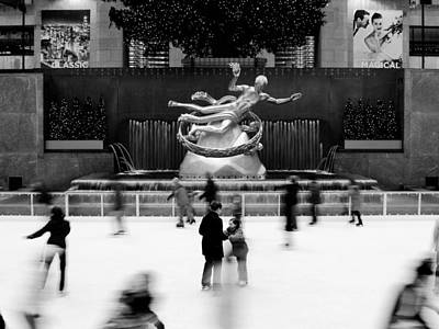 Winter Landscape Photograph - Nyc Rockefellar Iceskating by Nina Papiorek