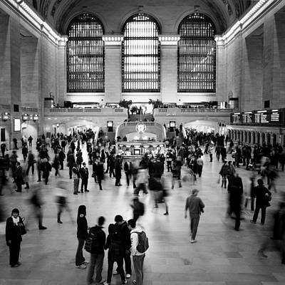 Square Photograph - Nyc Rush Hour by Nina Papiorek