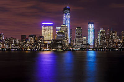 1 Wtc Photograph - Nyc Skyline And The Freedom Tower by Vicki Jauron