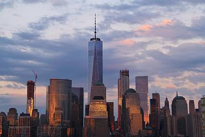 Photograph - NYC Skyline at Dusk by Andrew Verdi
