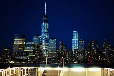 Photograph - Nyc Skyline At Night From Pier by Matt Harang