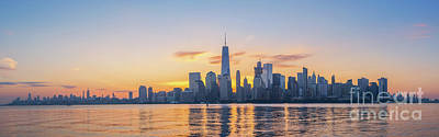 911 Memorial Photograph - Nyc Skyline Sunrise by Michael Ver Sprill