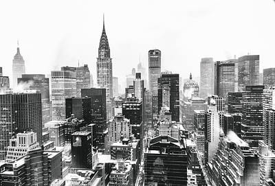 Nyc Snow Print by Vivienne Gucwa