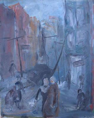 Wall Art - Painting - Nyc Street by Inge Klimpt