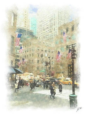 Photograph - Nyc Street Scene by Erika Weber