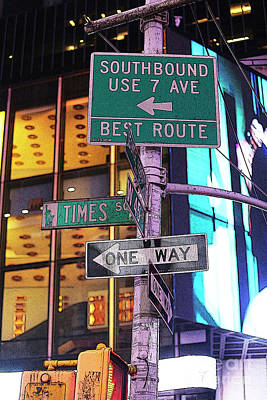 Photograph - Nyc Street Sign by Kate Purdy