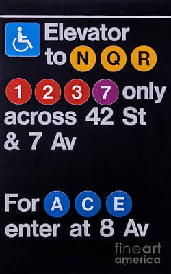 Nyc Subway Mosaic Photograph - Nyc Subway 42th St by Ivan Santiago