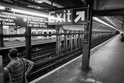 Photograph - Nyc Subway At Night by Ranjay Mitra