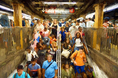 Digital Art - Nyc Subway by Matthew Ashton