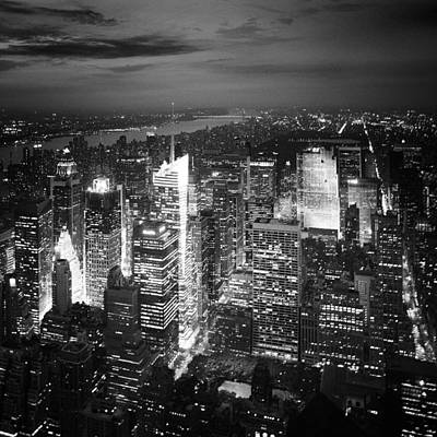 Empire State Photograph - Nyc Times Square by Nina Papiorek