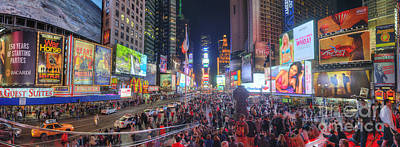 Photograph - Nyc Times Square Panorama by Yhun Suarez