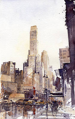 Wall Art - Painting - New York by Tony Belobrajdic