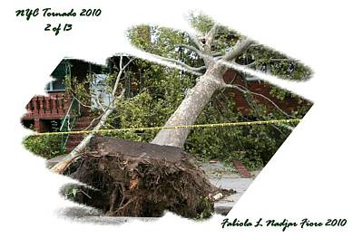 Nyc Mixed Media - Nyc Tornado 2 Of 13 by Fabiola L Nadjar Fiore