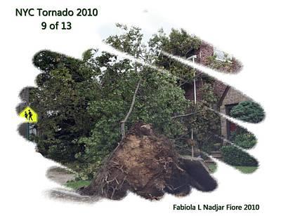 Nyc Mixed Media - Nyc Tornado 9 Of 13 by Fabiola L Nadjar Fiore