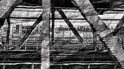 Art Print featuring the photograph Nyc Train Bridge Tracts by Joan Reese