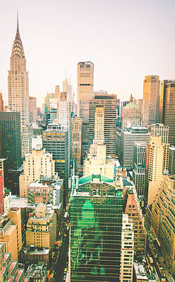 Nyc Rooftop Photograph - NYC by Vivienne Gucwa