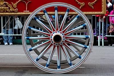 Photograph - Nyc Wagon Wheel by Michiale Schneider